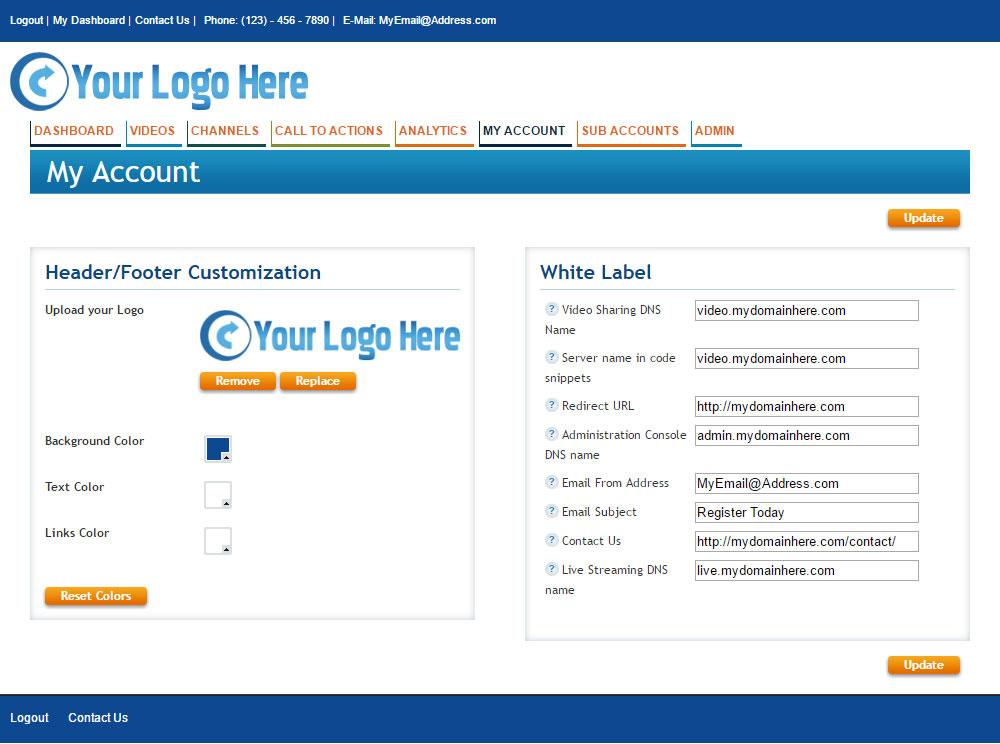 Make my Account White Label